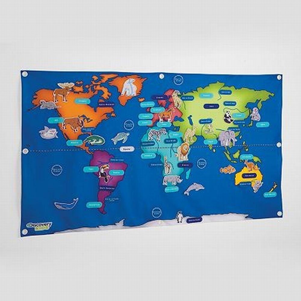 Discovery kids fabric activity world map 76 piece learning activity discovery kids fabric activity world map 76 piece learning activity 140cm by 80cm by discovery kids shop online for toys in new zealand gumiabroncs Image collections