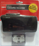 RCA RP3528(R) Portable Voice Activated Micro Cassette Recorder/Player