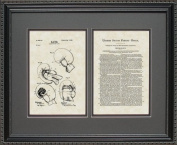 Boxing Gloves Patent Art Wall Hanging 16x20 | Boxer Coach Manager Gift