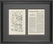 Breathalyser Patent Art Wall Hanging 16x20 | Police Law Enforcement Gift
