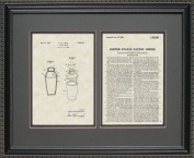 Cocktail Mixer Patent Art Wall Hanging Gift