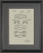 Futuristic Racer Patent Art Wall Hanging | Auto Mechanic Gift