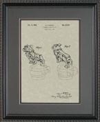 Hood Ornament Automobile Patent Art Wall Hanging | Auto Mechanic Gift