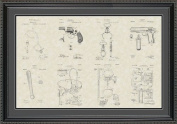 Police Equipment Patent Art Wall Hanging 20x30 | Policeman Detective Chief Gift