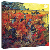 """""""Red Vineyard At Arles'"""" By Vincent Van Gogh Gallery Wrapped Canvas."""