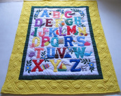 Hawaiian Quilt Baby Crib Blanket, Comforter, Wall Hanging, Hand Quilted and Machine appliqued