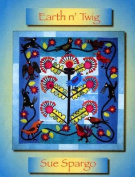 Earth N' Twig Folk art Quilt Book Softcover by Sue Spargo