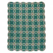 Patch Magic Green Double Wedding Ring Quilt