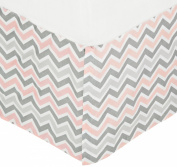 American Baby Company 100% Cotton Tailored Bed Skirt with Pleat