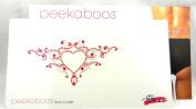 Peekaboos Intimate Sparkle Crystal Red Heart Tattoo Temporary Intimate Self Adhesive