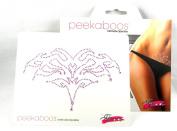 Peekaboos Intimate Sparkle Tribal Crystal Tattoo Temporary Intimate Self Adhesive