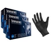 Black Nitrile Gloves, Powder Free, Latex Free, Semperforce®, 100/Box size SM-XXL