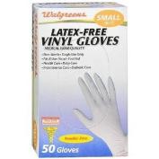 Walgreens Exam Glove 3G Vinyl, Small, 50 ea