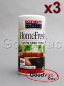 Kirby (PACK OF 3) Homefresh Carpet Powder Freshener/Room Deodorizer/Odour Remover. Scent - Cinnamon