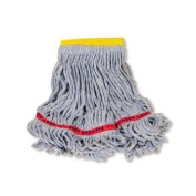 Rubbermaid Commercial Swinger Loop Wet Mop Heads, Cotton/Synthetic, Blue, Small - six wet mop heads per case.