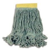 Rubbermaid Commercial Super Stitch Blend Mop, Cotton/Synthetic, Small, Green - six mop heads.
