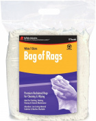Buffalo Industries 10526BP Recycled White Cloth Tee Shirt Rags in 3.6kg Compressed Poly Bag