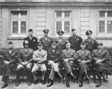 New 8x10 Photo: American Generals of World War II, 1945