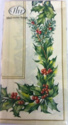 Ideal Home Range Christmas Garland Cream Green Paper Guest Towels