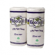 Wausau Paper EcoSoft Household Roll Towels, 11 x 9, White, 100/Roll - 30 rolls of 100 towels each.