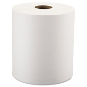 Windsoft Nonperforated Paper Towel Roll, One-Ply, White, 2.4m x 240m - six rolls of paper towels.