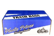 BLACK GARBAGE (TRASH) BAGS FOR HEAVY INDUSTRIAL USE, 227.1l XXX. HEAVY, BLACK 2.1 MIL - 4 MIL STRENGTH, 100/CASE