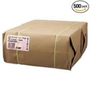 12# Paper Bag, 26kg Kraft, Brown, 7 1/16 x 4 1/2 x 13 3/4, 500/Pack