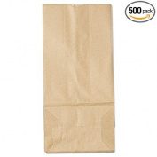 5# Paper Bag, 16kg Kraft, Brown, 5 1/4 x 3 7/16 x 10 15/16, 500/Pack