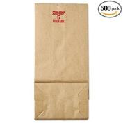 5# Paper Bag, 23kg Kraft, Brown, 5 1/4 x 3 7/16 x 10 15/16, 500/Pack