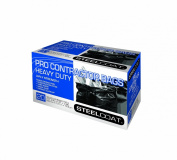 Petoskey Plastics 94105 Steelcoat Heavy Duty Pro Contractor Trash Bags, 159l, Black, 20-Pack