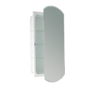 Headwest Bevelled Eclipse Mirror Recessed Medicine Cabinet, 41cm by 80cm