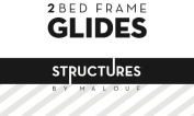 Structures by Malouf® Set of 2 Bed Frame Replacement Glides
