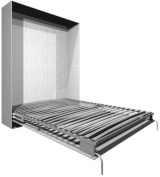 Bedlift, queen size, includes pistons , black frame, silver feet, 200cm x 150cm