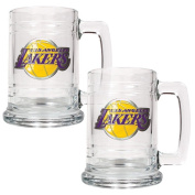 Great American Products NBA Two Piece 440ml Glass Tankard Set - Primary Logo
