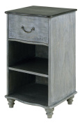 Currey and Company 3102 Whitmore - Night Stand, Burnt Coal/Vintage Steel Finish