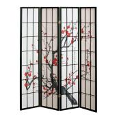 4 panel Cherry Blossom Design Room Divider