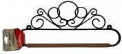 30cm Black Scroll Quilt Hanger