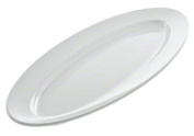 American Metalcraft MEL49 The Endurance Melamine Collection Boat Platter, 60cm , White