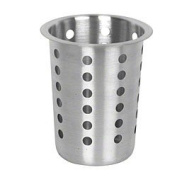 Thunder Group Perforated Flatware Cylinder, Stainless Steel