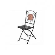 Essential Décor Entrada Collection Terracotta Chair, Black
