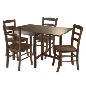 Winsome Lynden 5-Piece Dining Table with 4-Ladder Back Chairs