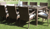 Soho Patio Small Rectangular Woven Dining Table