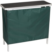 Red Cup Pong Portable Bar Table - Two Skirts and Carrying Case Included