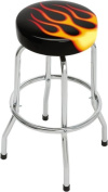Flames Single Foot Ring Barstool without Swivel