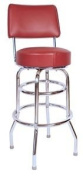 Double Ring Commercial Bar Stool with Back - Wine