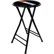 TG NASCAR 60cm Cushioned Folding Stool, Black