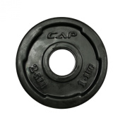 CAP Barbell 5.1cm Rubber Coated Grip Plate, Black