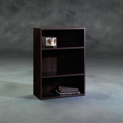 Sauder Beginnings 3 Shelf Wood Bookcase, Cinnamon Cherry Finish