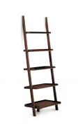 Poundex 5-Tier Leaning Wall Shelf, Cappuccino
