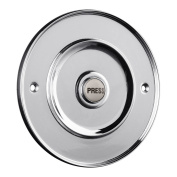 Polished Chrome 100mm Dia Bell Push with China Press